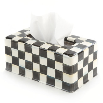 Mackenzie Childs Courtly Check Long Tissue Box