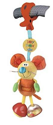 Playgro Pram Toy Mouse, From 0 Months, Dingly Dangly Mimsy, Orange/Multicoloured, 40144
