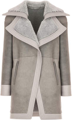 Genny Oversized Lapel Grey Coat
