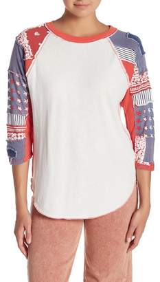 Free People Bright Star Graphic Raglan Tee