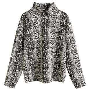 MANGO Snake print sweater