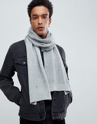 AllSaints Trias Scarf In Light Gray