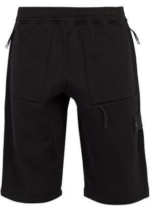 Stone Island Ghost Wool Fleece Bermuda Shorts - Mens - Black