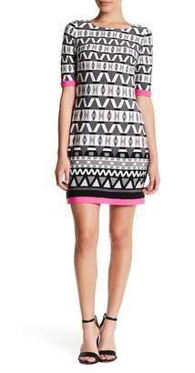 Eliza J Print Jersey Shift Dress (Petite)
