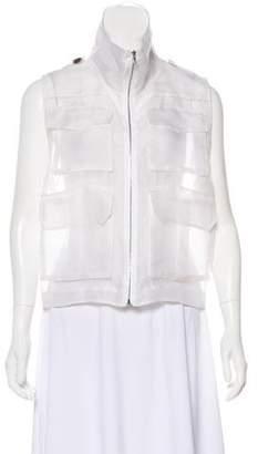 Marissa Webb Sheer Silk Vest