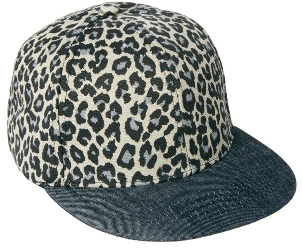 Asos Snap Back Cap with Leopard Print