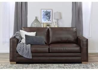 "Serta Mason 81"" Sofa in Brown Bonded Leather"