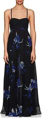 Proenza Schouler Women's Tropical-Floral-Print Silk Maxi Dress
