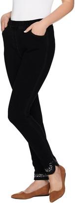 Factory Quacker DreamJeannes Short Jeweled Curved Hem Legging