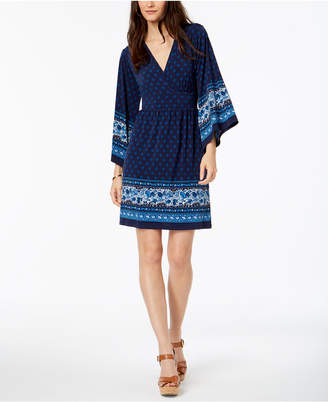 Michael Kors Border-Print Dress