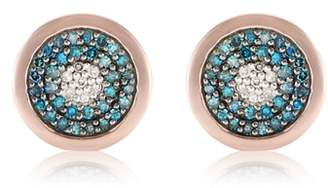 Monica Vinader Evil Eye Stud Diamond Earrings