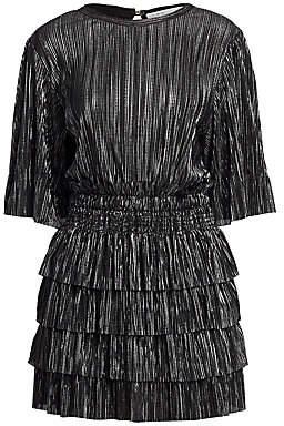 IRO Women's Cuszco Pleated Stripe Blouson Dress