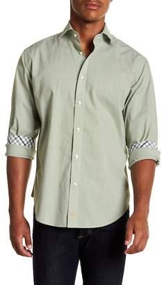Thomas Dean Checkered Long Sleeve Sport Fit Shirt