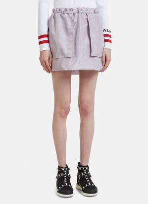 Valentino Layered Silk Mini Skirt
