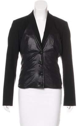 Issey Miyake Wool-Blend Shawl Collar Blazer