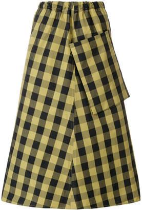 Sofie D'hoore pocket gingham print skirt
