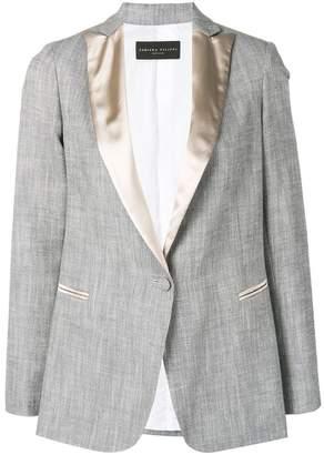 Fabiana Filippi contrast lapel blazer