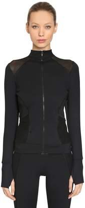 Ermanno Scervino Stretch Nylon Zip-Up Jacket