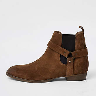 River Island Tan western style suede boots