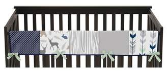 JoJo Designs Sweet Front Crib Rail Guard Cover - Navy & Mint Woodsy