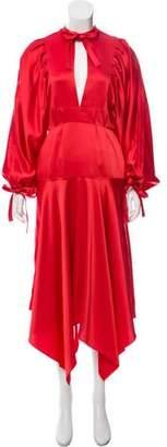Self-Portrait Satin Midi Dress w/ Tags