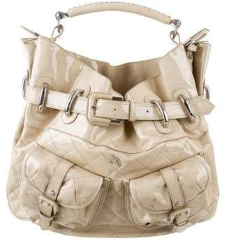 Burberry Quilted Patent Leather Satchel