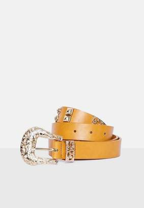 Missguided Tan Faux Leather Western Style Belt