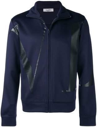 Valentino logo print full-zip sweatshirt