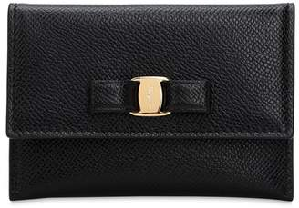 Salvatore Ferragamo Vara Mini Grained Leather Wallet