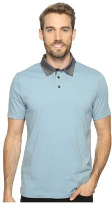 Perry Ellis Pima Chambray Polo Shirt Men's Clothing