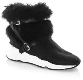 Ash Moloko Fur Sneaker Booties