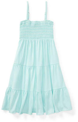 Ralph Lauren Smocked Tiered Jersey Dress
