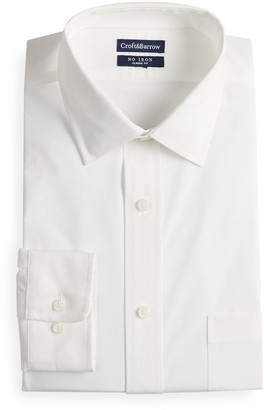 Croft & Barrow Men's Regular-Fit Spread-Collar No-Iron Stretch Dress Shirt