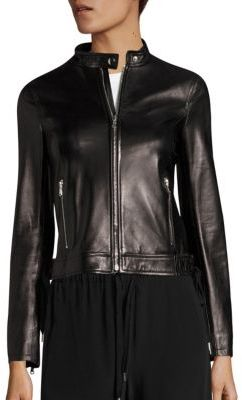 RED Valentino Lace-Up Leather Moto Jacket $1,495 thestylecure.com