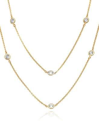 "Crislu Layered Necklace, 36"""