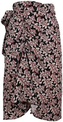 Etoile Isabel Marant Floral Print Wrap Skirt