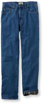 Men's Double LA Jeans, Classic Fit Flannel-Lined