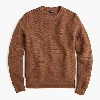 J.Crew Cotton crew neck sweater in honeycomb knit