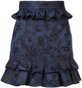 C/Meo ruffled floral skirt