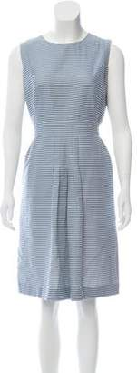 Akris Punto Striped Knee-Length Dress