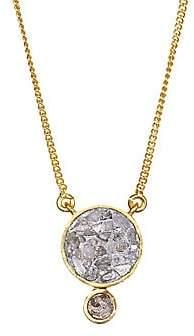 Ophelia Shana Gulati Women's Sliced Raw Diamond Pendant & 18K Yellow Gold Vermeil Necklace