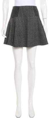 Alice + Olivia Wool Mini Skirt