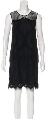 Diane von Furstenberg Sleeveless Embroidered Lace Mini Dress