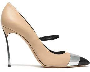 Casadei Blade Matte Mirrored And Patent-Leather Pumps