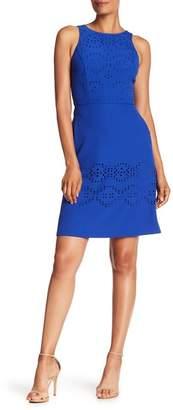 Tahari Lasercut Eyelet Dress