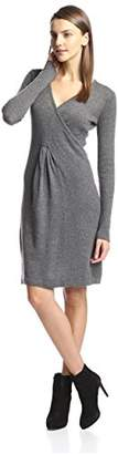 Cashmere Addiction Women's Surplice Sweater Dress