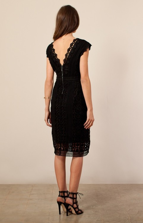 Hale Bob Kisa Laced Dress In Black