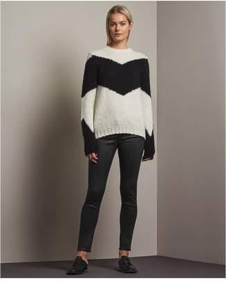AG Jeans The Legging Ankle - Vintage Leatherette Lt - Black