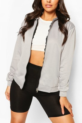 boohoo Basic Zip Through Hoody
