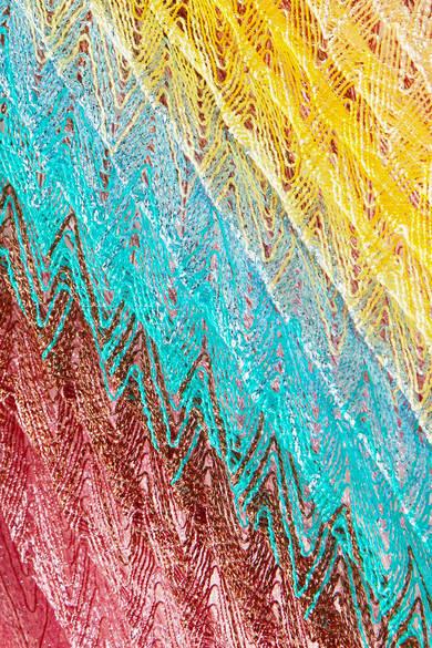 1bf6442159662c Missoni - Mare Metallic Crochet-knit Maxi Skirt - Yellow detail image